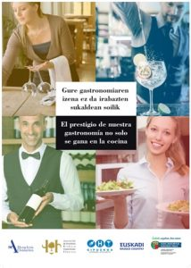 Campaña Euskadi prestigio servicio sala gastronomía