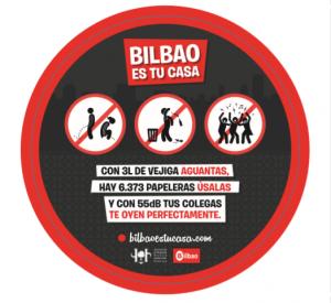 Hostelería apoya la campaña de civismo de Bilbao