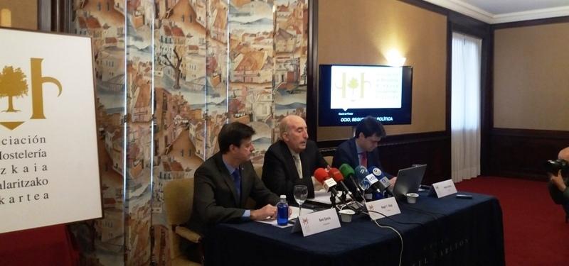 Rueda de prensa Asociación Hostelería de Bizkaia - Ocio, seguridad y política