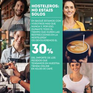 Promoción Cafés Baqué Hosteleros no estáis solos